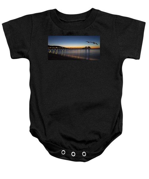 Malibu Pier At Sunrise Baby Onesie