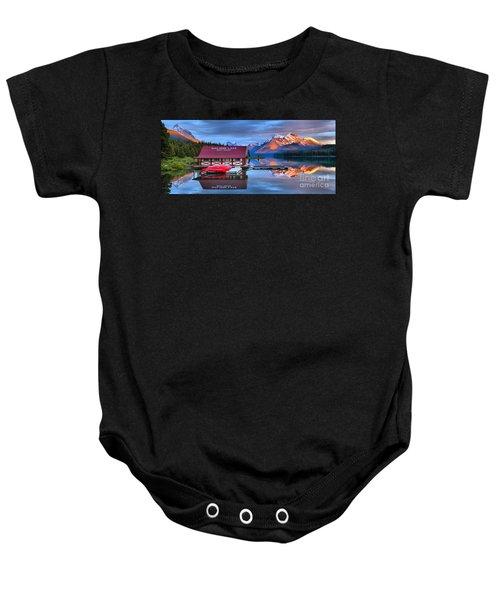 Maligne Lake Sunset Spectacular Baby Onesie