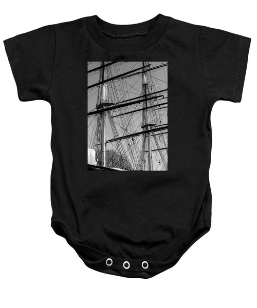 Masts And Rigging Of The Cutty Sark Baby Onesie
