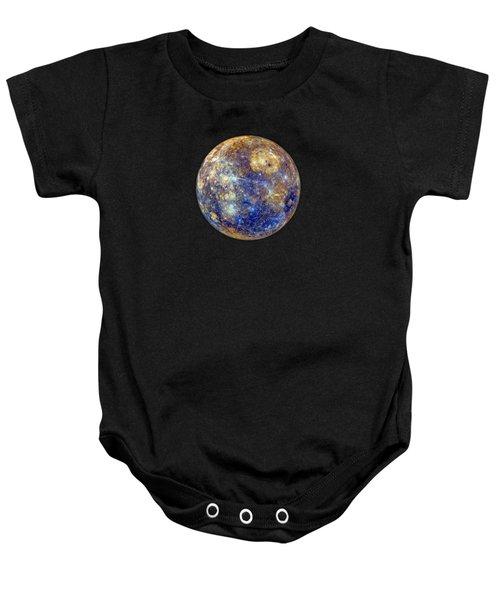 Mercury In False Color - Enhanced Baby Onesie
