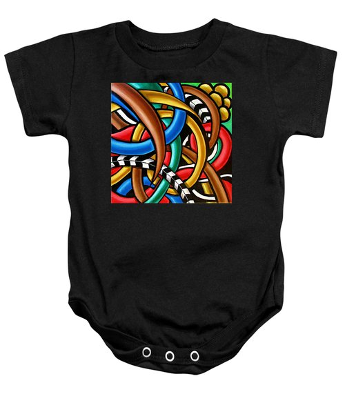 Colorful Abstract Art Painting Chromatic Intuitive Energy Art - Ai P. Nilson Baby Onesie