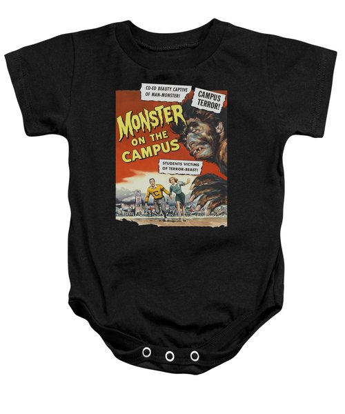 Monster On The Campus Vintage Movie Poster Baby Onesie