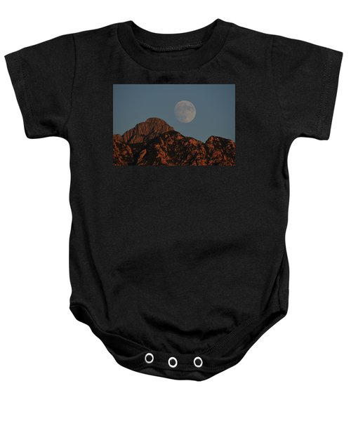 Moon Rise Over Mount Wrightson  Baby Onesie