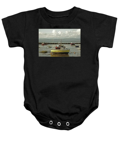 Morecambe. Boats On The Shore. Baby Onesie