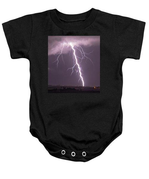 Nebraska Arcus And Lightning 046 Baby Onesie