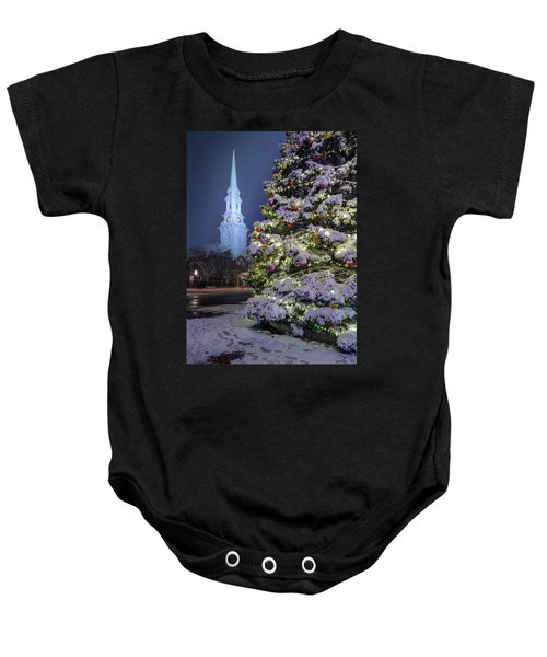 New Snow For Christmas Baby Onesie