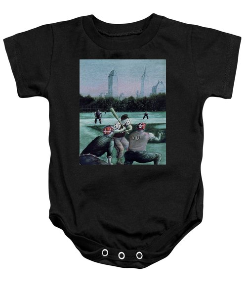 New York Central Park Baseball - Watercolor Art Painting Baby Onesie