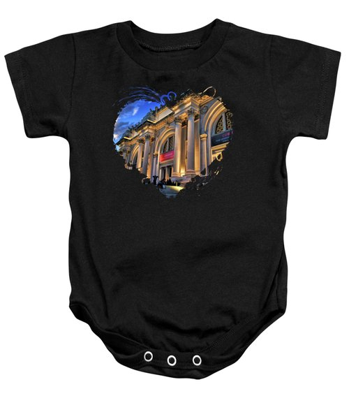 New York City Metropolitan Museum Of Art Baby Onesie