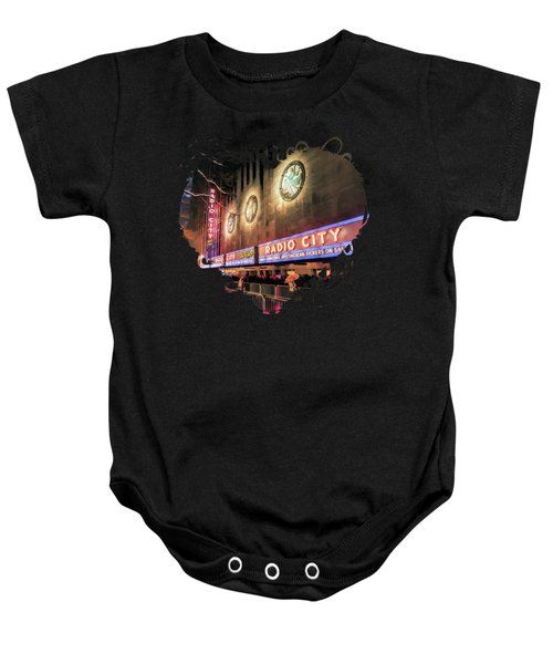 New York City Radio City Music Hall Baby Onesie