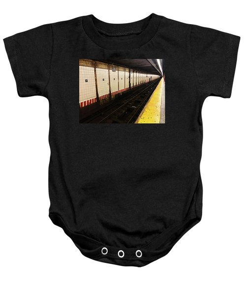 Baby Onesie featuring the photograph New York City Subway Line by Shane Kelly