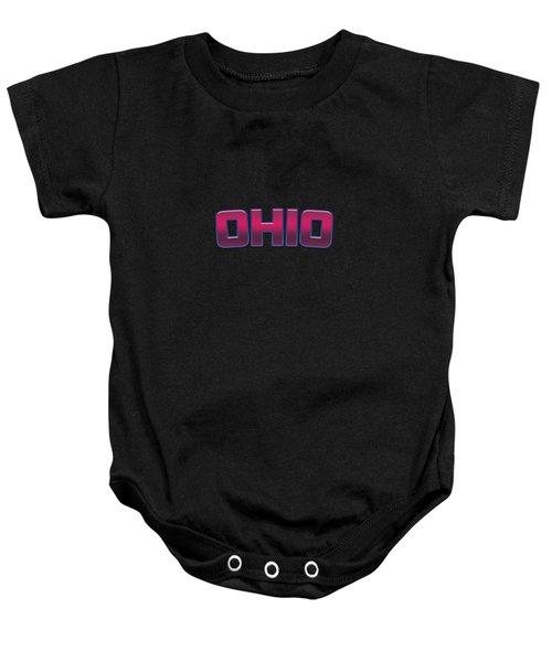 Ohio #ohio Baby Onesie