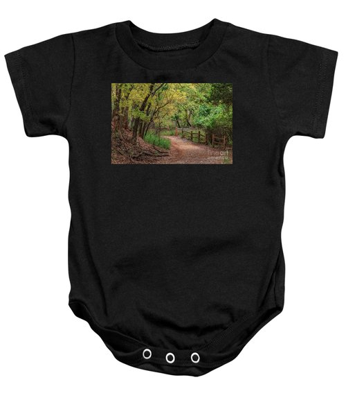 Oklahoma City's Martin Nature Park In Fall Color Baby Onesie
