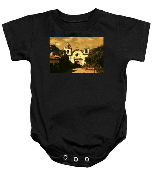 Old Carmel Mission - Watercolor Painting Baby Onesie