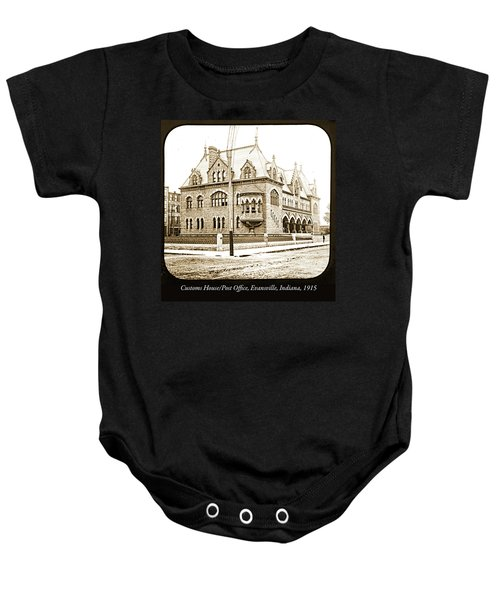 Old Customs House And Post Office, Evansville, Indiana, 1915 Baby Onesie