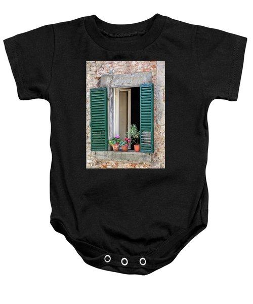 Open Window Of Tuscany Baby Onesie