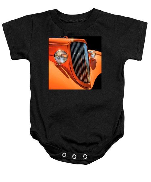 Orange Vision II Baby Onesie