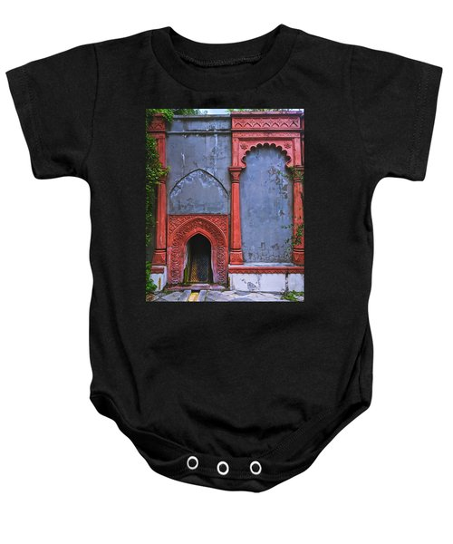 Ornate Red Wall Baby Onesie