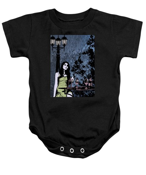 Out At Night Baby Onesie