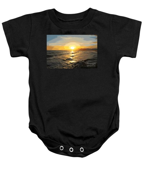 Pacific Sunset Impressionism, Santa Monica, California Baby Onesie
