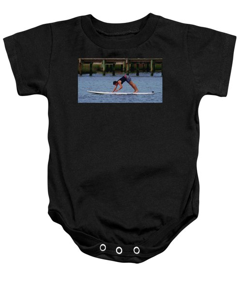 Paddleboard Yoga 3 Baby Onesie