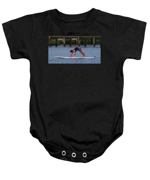 Paddleboard Yoga Baby Onesie