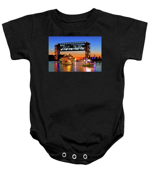 Parade Of Lighted Boats Baby Onesie