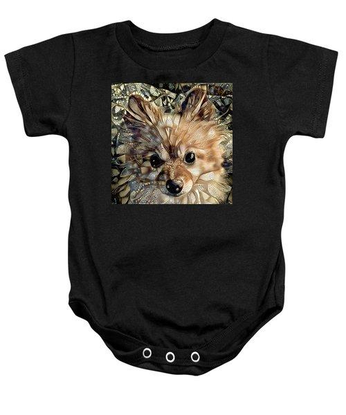 Paris The Pomeranian Dog Baby Onesie