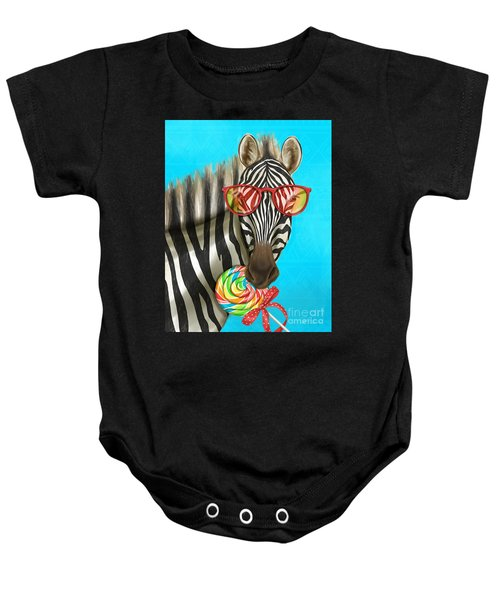 Party Safari Zebra Baby Onesie