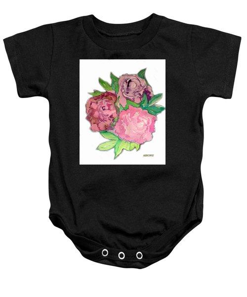 Peonie Roses Baby Onesie