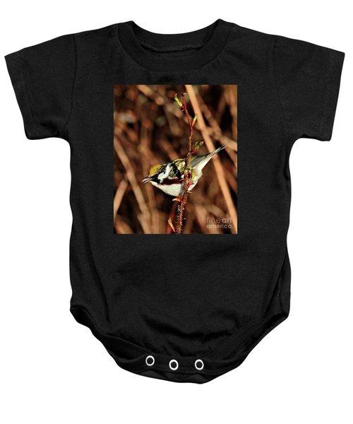 Perky Little Warbler Baby Onesie