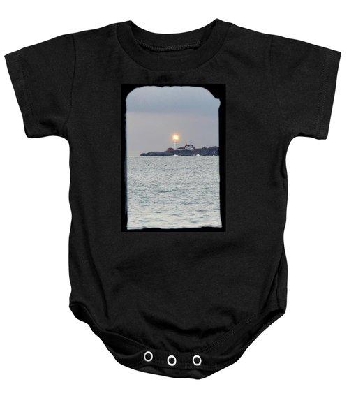 Portland Head Lighthouse Through The Gun Port Baby Onesie