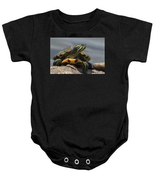 Portrait Of A Turtle Baby Onesie