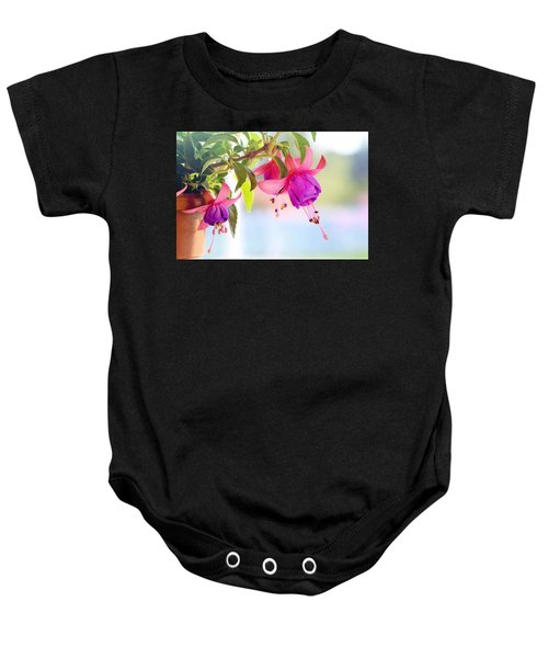 Purple Flowers Baby Onesie