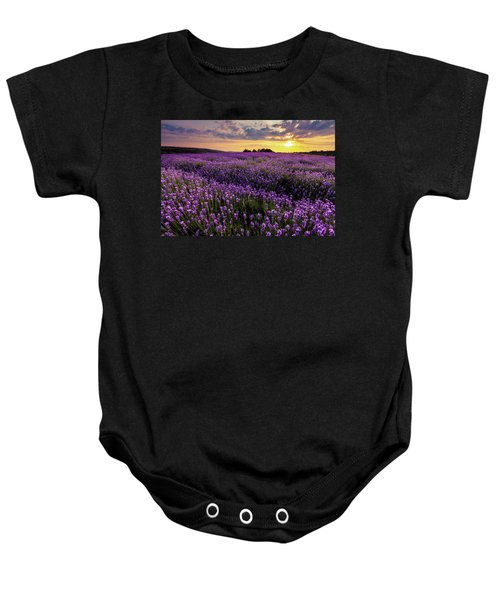 Purple Sea Baby Onesie