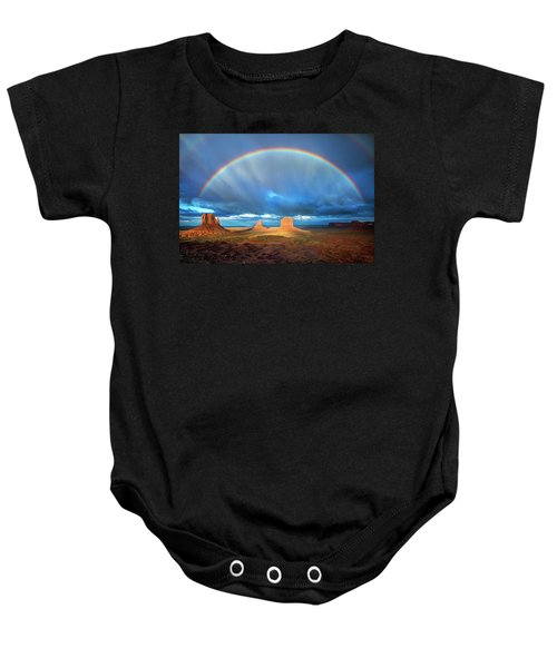 Rainbow Over The Mittens Afternoon Baby Onesie