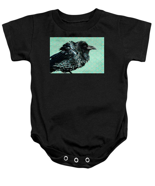 Baby Onesie featuring the photograph Raven Maven by Mary Hone