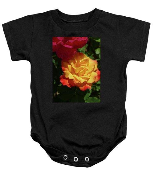 Red And Yellow Rio Samba Roses Baby Onesie