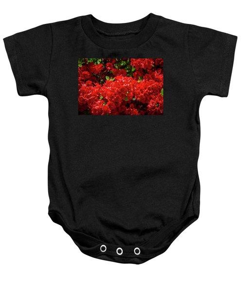 Red Flowers Baby Onesie