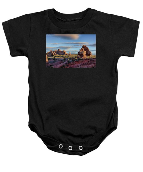 Red Rock Formations Arches National Park  Baby Onesie