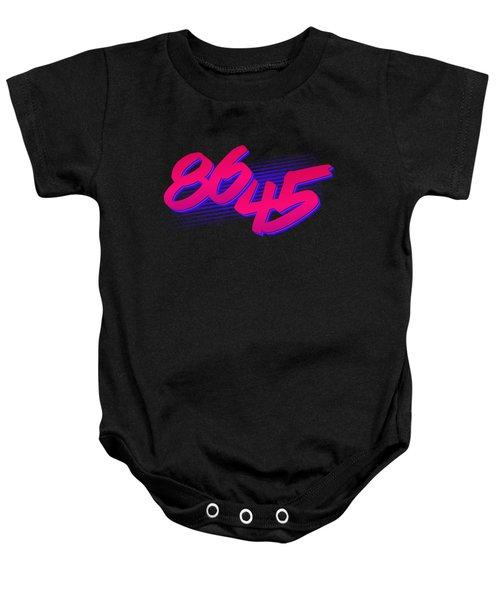 Baby Onesie featuring the digital art Retro 86 45 Impeach Antitrump by Flippin Sweet Gear