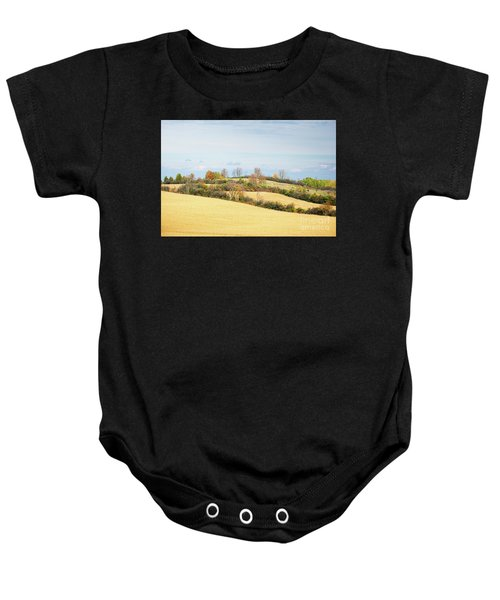 Rolling Hills In Fall Baby Onesie