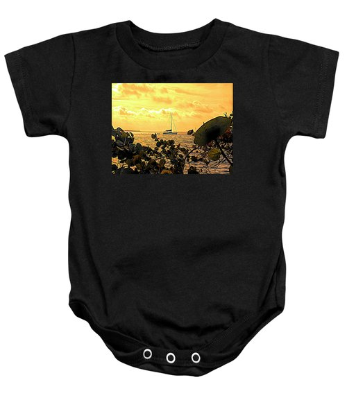 Sail The Manatee River Baby Onesie