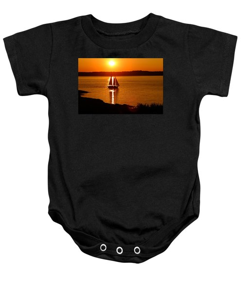 Sailing At Sunset Baby Onesie