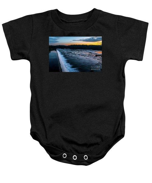 Savannah Rapids Sunrise - Augusta Ga Baby Onesie