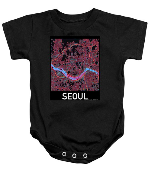 Seoul City Map Baby Onesie
