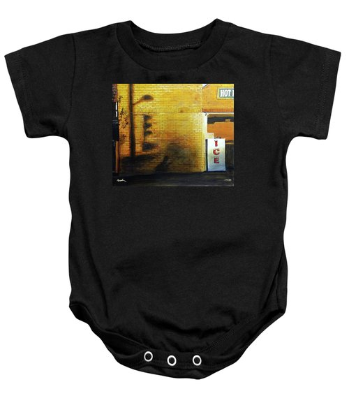Shadows On The Wall Baby Onesie