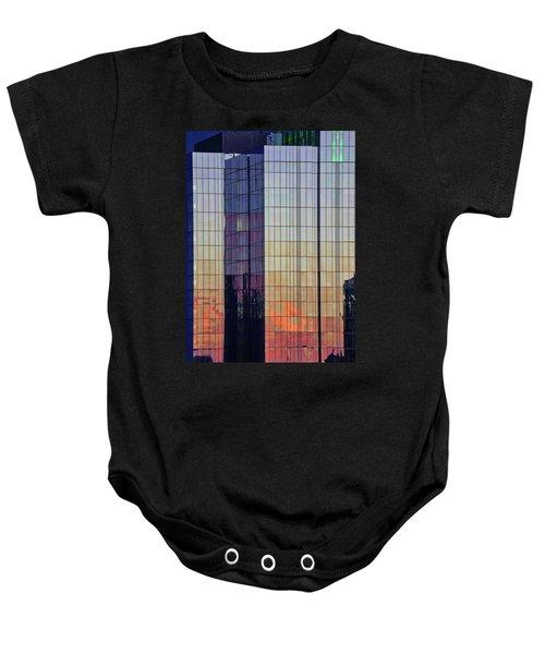 Skyscraper Sunset Baby Onesie