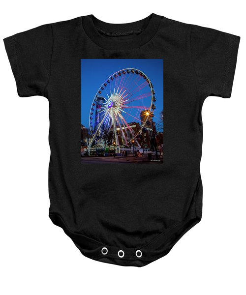 Skyview Atlanta Westin Peachtree Plaza Super Bowl L 111 Atlanta Georgia Art Baby Onesie