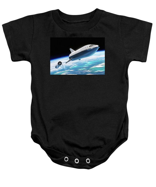 Spacex Bfr Big Falcon Rocket With Earth Baby Onesie