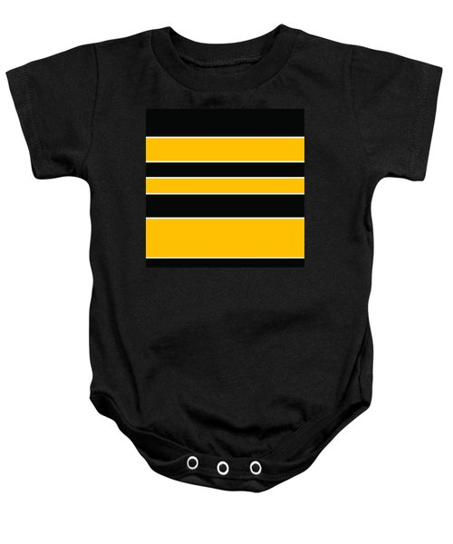 Stacked - Black And Yellow Baby Onesie